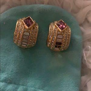 Christian Dior vintage earrings musing 2 crystal